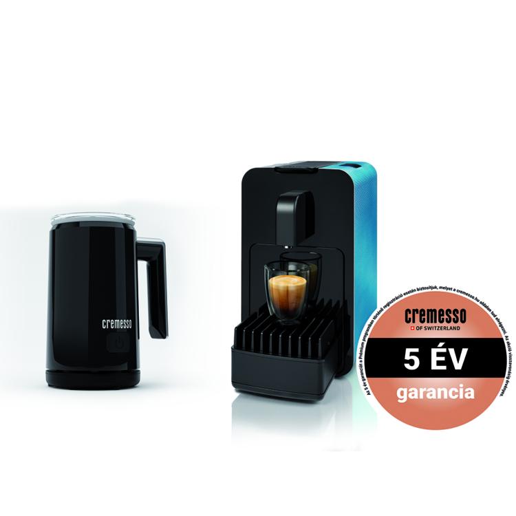 Cremesso Viva B6 kapszulás kávéfőző Kék ajándék tejhabosítóval