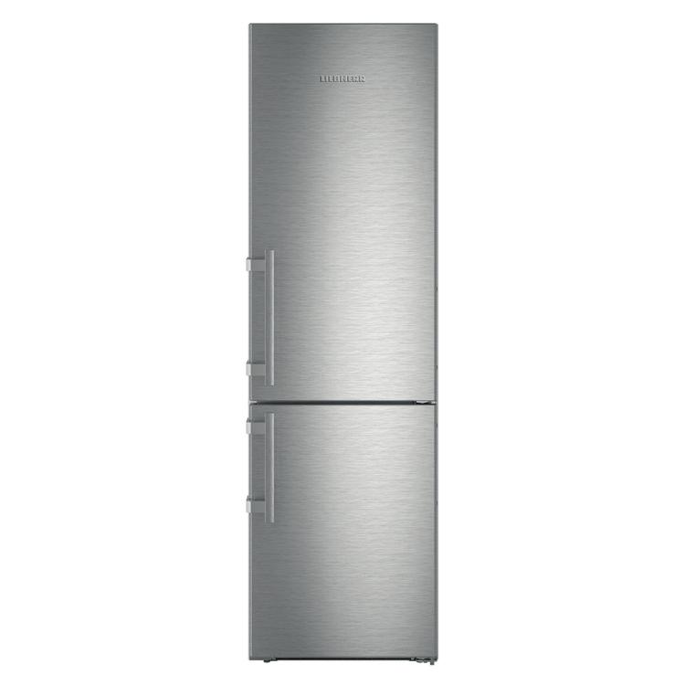 Liebherr CNef 4825 Comfort szabadonálló inox NoFrost BluPerformance alulfagyasztós kombinált hűtőszekrény A+++ 201/60/66,5 cm 258/97L