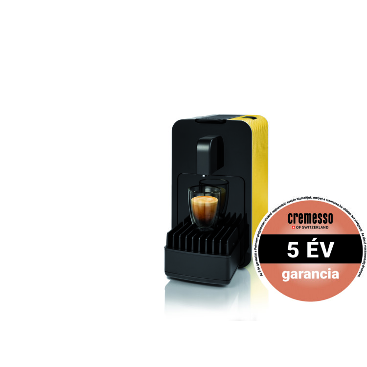 Cremesso Viva B6 kapszulás kávéfőző Sárga ajándék tejhabosítóval