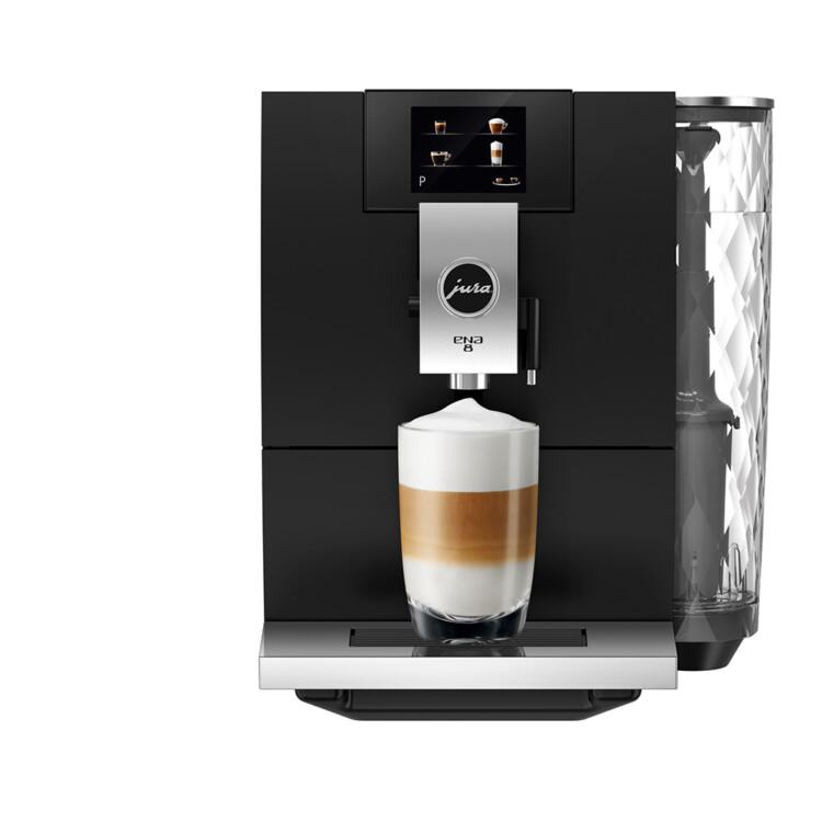 Ena 8 One Touch Full Metropolitan Black kávéfőző szemből