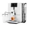 Ena 8 Touch Full Nordic White kávéfőz féloldalasan kávéfőző üvegtejtartállyal